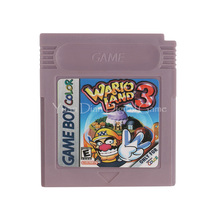 Nintendo GBC Video Game Cartridge Console Card Wario Land 3 English Language Version(China)