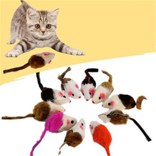 Cute Plush Soft False Mouse Cat Toy Interactive Gatos Animal Pets Supplies Colorful Stuffed Hamster Product For Kittens QQM2176