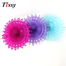 "1PC 10""(25cm)  DIY Tissue Paper Fan Paper Folding Fans For Home Garden/Birthday/Wedding Party  Decoration"