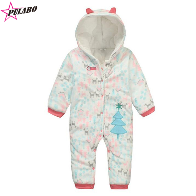 Baby Rompers Winter fall Climbing Clothes Newborn Boys Girls Warm Romper kids Christmas tree print Hooded Outwear<br><br>Aliexpress
