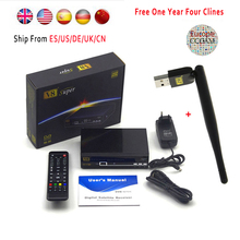 Satellite Receivers tv receptor freesat V8 Super FTA DVB-S2 support Biss Key newcam 3G IPTV Youporn+1 year Europe Cccam Server