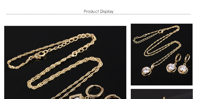 CWEEL Jewelry Sets Fashion African Jewelry Set Nigerian Wedding Zircon Jewerly Sets For Women Gold Color Ethiopian Jewelry (1)