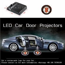 2 Pcs San Francisco Giants  Wireless Led Car  Door Projector  Welcome Ghost Shadow Light