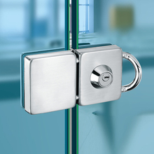 Double Glass Door Lock 304 Stainless Steel Single Open Frameless Door Hasps For 10-12mm Thickness Furniture Hardware(China)
