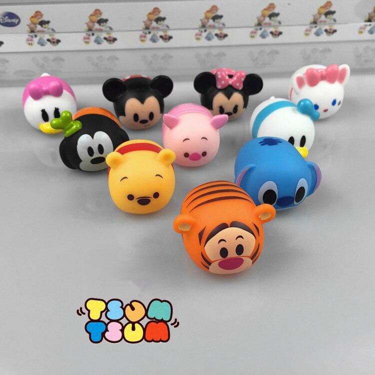 10Pcs/set Tsum Tsum mini toys voiced Mickey Minnie dolls cute cartoon animal Elf children toy pendant Juguetes<br><br>Aliexpress
