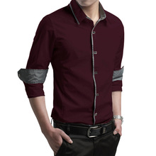 New Mens Fashion Clothing Long Sleeve Shirt Male Korean Cultivating Business Casual Men's Shirt Cotton Shirt