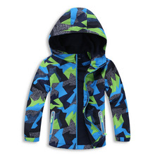 2017 Children Jackets Polar Fleece Spring Children Outerwear Warm Sporty Kids Clothes Waterproof Windproof Boys Tops For 3-12T(China)