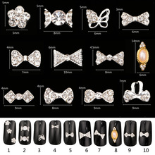 10Pcs/Lot 3D Charms Glass Crystal Diamonds Nail Art Design Stone Decorations Strass Jewelry DIY Nailart Adhesive Rhinestones