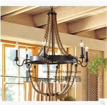 European style of the ancient village artistic individuality dining room stairs chandelier chandelier lamp
