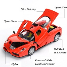 Alloy Model Good Quality, Simulation Toys Car In Scale 1/32 Size 15Cm Pull Back& Return PowerW/ Light and Music(China)