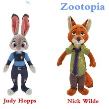 2016New 18cm Plush Zootopia Rabbit judy Hopps Fox Nick Wilde Toys For Baby Kids Dolls