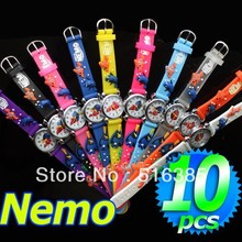 Free Shipping Wholesale Finding Nemo Watch,3D Cartoon Quartz 10pcs/lot &Promotion children good gift for kids
