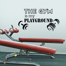 Gym Wall Decal Sayings Vinyl Lettering The Gym Is My Playground Health Sports Fitness Wall Decals Vinyl Stickers Art Mural(China)
