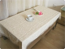 2015 New Arrival Special Offer Woven Home Outdoor Hotel Wedding Multifunctional Coffee Table Cover Tablecloths 100cm X 150cm Tv(China)