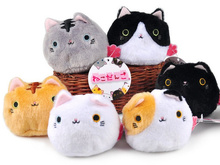HOT SALE , 6Models- Little 7cm Cat Plush , Beads Stuffed Toy Doll , Kawaii Cat Mini Plush Toy , Baby Kid's Gift Plush Toy