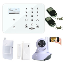 Spanish Italian Wireless WIFI Camera IP Camera Alarm System Home Security PTZ Control W11F With GSM Alarm Panel Android APP K9