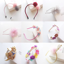 New Lovely Princess Hairbands hair ornaments Handmade Ribbon flowers hair band hoop Lace Retro Cartoon Hair accessories for girl(China)