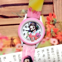 Small Order 50PCS/LOT Princess Children Quartz Watch Girls Printed Silicone Band Plastic Shell Cartoon Kids Jelly Wristwatch New(China)