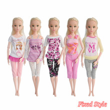 5 Pcs/Lot New Style Handmade Barbie Doll Suit Fashion Beautiful Dresses Dolls Clothes Accessories Barbie Doll Girl Gift Kid Toy(China)