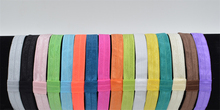hot sale 16 color solid satin fabric elasticity headbands Hairbands Children Head wear girls DIY accessories YL015(China)