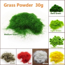 30g Artificial Grass Powder Sand Table Model Decor Micro Landscape Decoration Home GardenDIY Accessories Building Model Material
