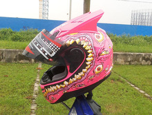 Factory produce Pink color Motorcycle Helmet DOT approved helmets for Female(China)