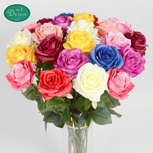 20pcs Rose flowers Festival valentine rose dew custom wedding  simulation table flower factory wholesale