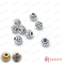 Buy , 434450PCS 5*4MM Antique Silver Plated Alloy Pumpkin Beads Spacer Beads Diy Handmade Jewelry Findings Accessories Wholesale for $1.28 in AliExpress store