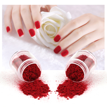 Fuzzy Flocking Christmas Velvet Nail Glitter Powder Colorful Dust For Manicure DIY Nail Art Tips Decoration(China)