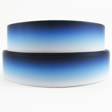 "1""(25mm) gradient ribbon high quality printed polyester ribbon 5 yards,DIY handmade materials,wedding gift wrap,5Y48965"