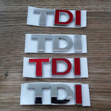 TDI GTI Badge Emblem Decal Sticker Logo VW for VW Skoda Golf JETTA PASSAT MK4 MK5 MK6 Car styling car accessories