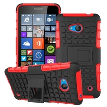 Phone Cases For Nokia Lumia 640 ( RM 1072 ) Tire Style Rugged Hard Tough Cover Case  Armor Hybrid Holder Stand Capas Funda