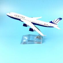 FREE SHIPPING 16CM 747 UNITED AIRLINES METAL ALLOY MODEL PLANE AIRCRAFT MODEL TOY AIRPLANE BIRTHDAY GIFT(China)