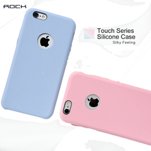 ROCK Case For iPhone 6 plus Luxury Touch Series Silicone Phone Case for iPhone 6s plus Silky feeling Protective Shell clearance(China)