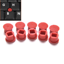 10pcs Laptop Nipple Rubber Mouse Pointer Cap for IBM Thinkpad Little TrackPoint Red Cap for Lenovo Keyboard Trackstick Guide(China)