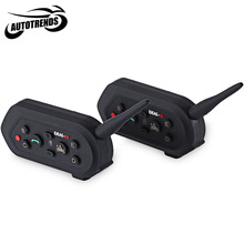 2pcs EJEAS-E6 Motorcycle Bluetooth Intercom Headset Motorbike Interphone Two People Full Duplex Talking 1300M Effective Range