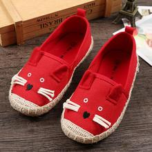 new arrival kids shoes children girls shoes cute cartoon casual shoes kids fashion breathable canvas shoes girls slip on loafers