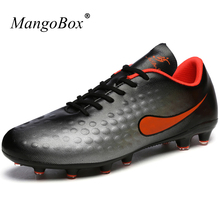 MangoBox Mens Football Cleats Orange Yellow Football Shoes Kids New Arrival Shoe Cleats Lightweight Soccer Cleats Women(China)