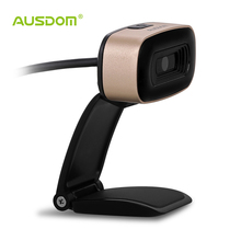 AUSDOM AW525 USB Webcam High Definition 720P Network Camera with Buil-in mic for Skype Video Chat