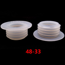 5pcs White Rubber Seal Gromment For Shisha Hookah Water Pipe Sheesha Chicha Narguile Glass Bottle Accessories 48&33 mm LM-0940