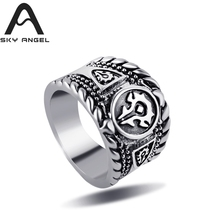 SkyAngel Punk Man Ring Fashion red Black skull Rings For Men  Wholesale Costume Jewelry ring women christmas gifts hot sale
