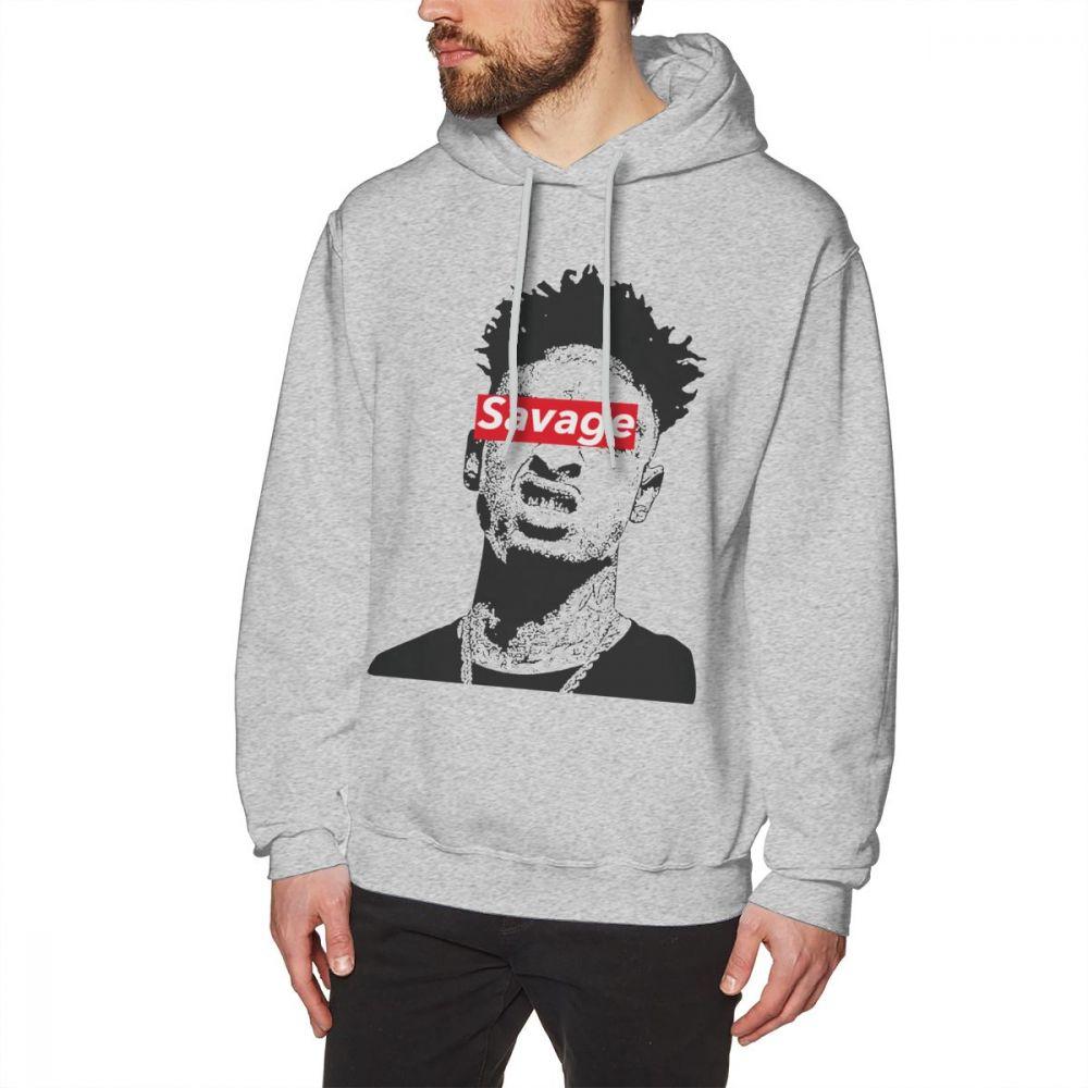 21 Savage Mumble Rap Gray Hoodie Pullover Twenty One