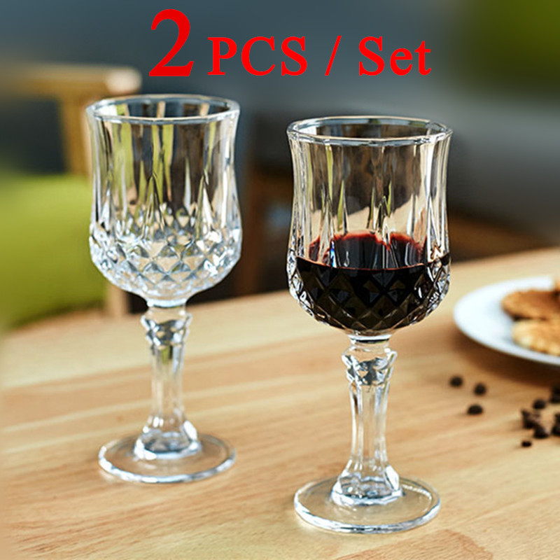 2 PCS / Set Red Wine Glass Cup Crystal Glasses Cup for Bar Party Drinking Wholesale Prices(China (Mainland))