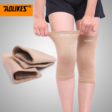 AOLIKES 1Pair Elastic Sports Leg Knee Support Brace Wrap Protector Knee Pads Sleeve Cap Patella Guard Volleyball Knee(China)