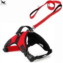 [TAILUP] Bid Dogs Harness Vest with Leash Rope Safety Walking Reflective Dogs K9 Vest Rope for Big Dog Middle Dog L XL SizePP029(China)