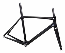 Cheap road bike frames DI 2 bicycle parts carbon fiber cycle chinese FM029A promotion freamset with 3K finish for sale(China)