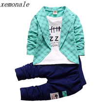 2017 New Spring Autumn Toddler Baby Boy Formal Clothing Fashion Sets Newest  Boys Clothes Suit 2PCS Children's Infant Clothes