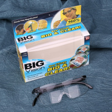 2017 New Big Vision plastic glasses 250 /160 degrees Magnifying Eyewear That Makes Everything Bigger and Clearer