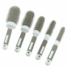 1PCS 19/25/32/45/53mm Hairbrush Ceramic Ionic Round Comb Barber Hair Dressing Salon Styling Tools Brushes(China)