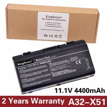 KingSener Korea Cell New Battery A32-X51 for ASUS X58 X50C X58L X58Le X51H X51L X51R X51RL A32-X51 A32-T12 A33-T12 11.1V 4400mAh(China)